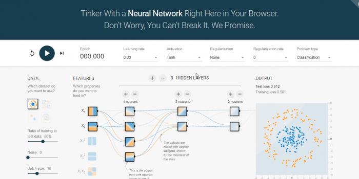 Understanding Neural Networks through in browser app.