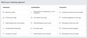 Fletchsys : facebook-ads-objectives